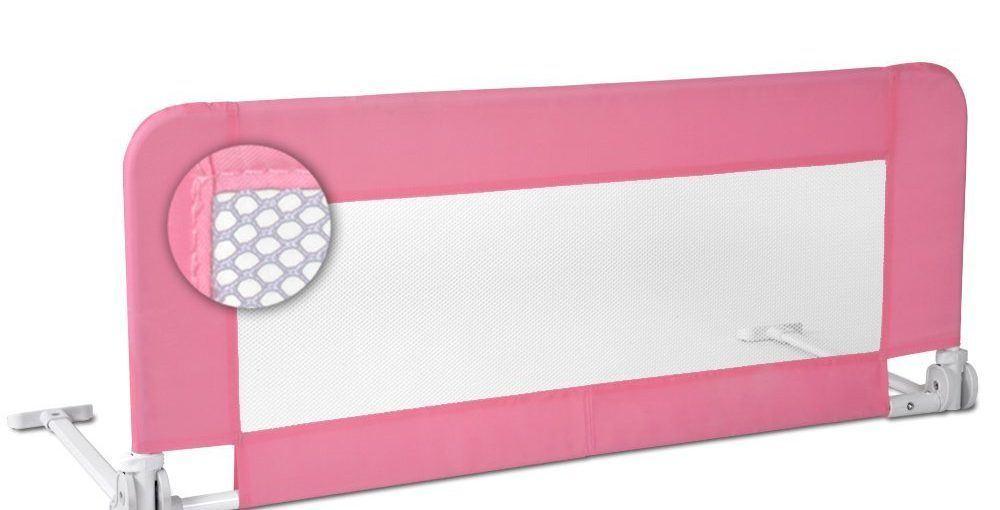 Une barrière-lit rose