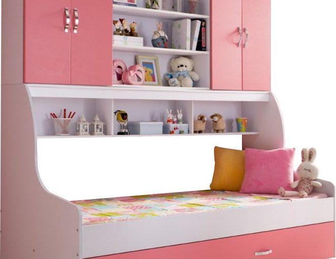 Exemple de chambre enfant rose