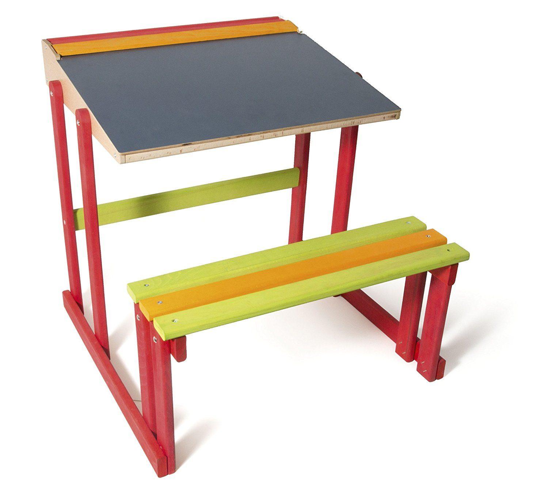 Bureau en bois tricolore