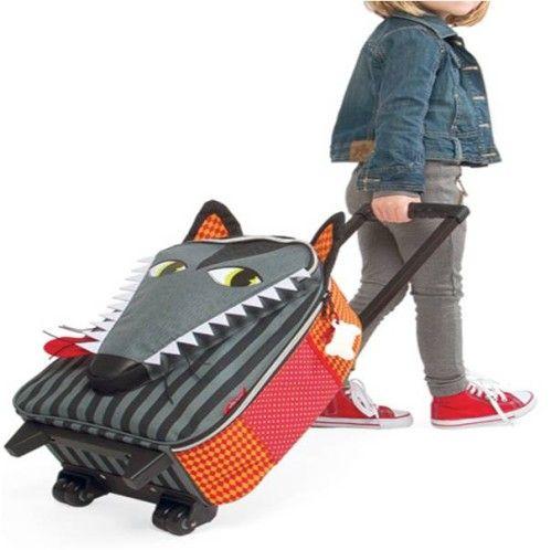 Une valise pour enfant à l'effigie du loup